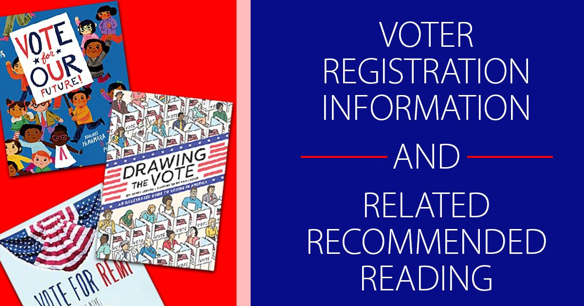 Voting Resources graphic featuring images of three voting related book covers