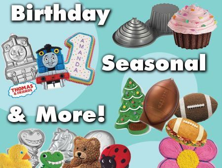 Cake Pan Collection - Birthday, Seasonal and More Pan Options
