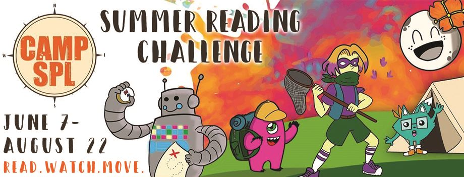 Camp SPL Summer Reading Challenge with Mascots